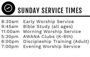 worship service list